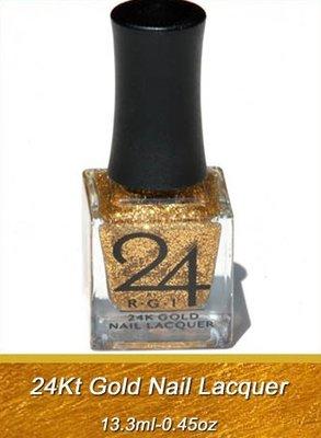 24k Gold Glitter Nail Lacquer 13,3ml
