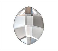 Swarovski Flat Backs 8 x 4.8mm Crystal Pure Leaf 6 stks.